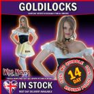 FANCY DRESS COSTUME # GOLDILOCKS SMALL SM 8-10